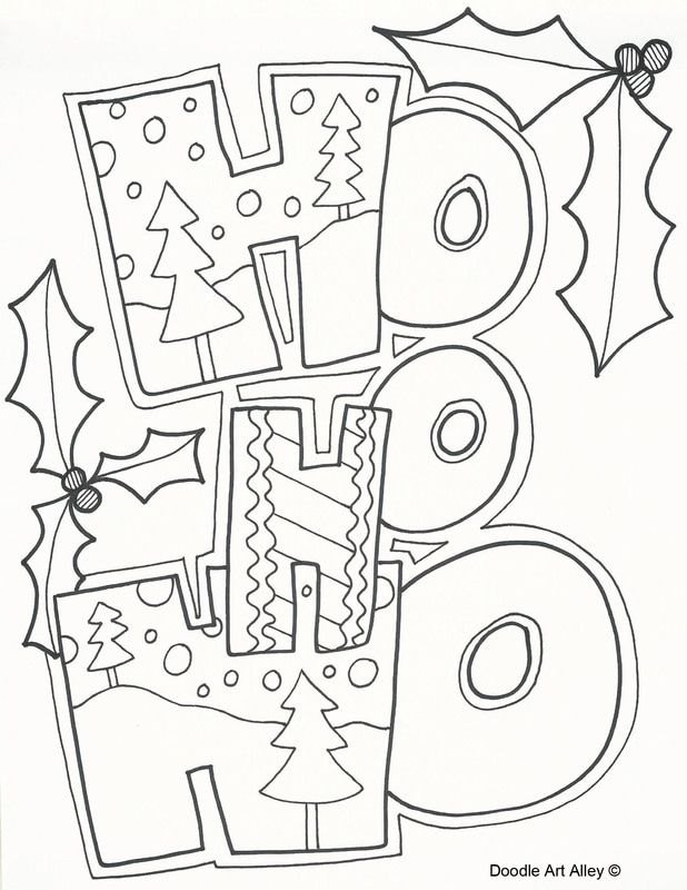 Free Christmas Coloring Pages At Celebration Doodles