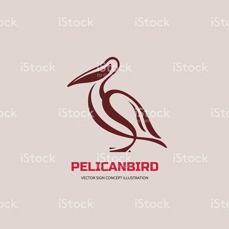 Pelican uccello vettoriale di illustrazione in stile classico illustrazione royalty-free