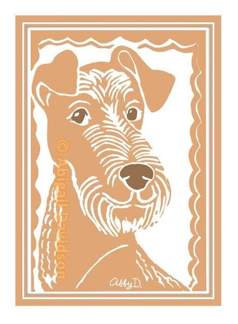 © Abigail Davidson -- Irish Terrier, Original Printmaking Art