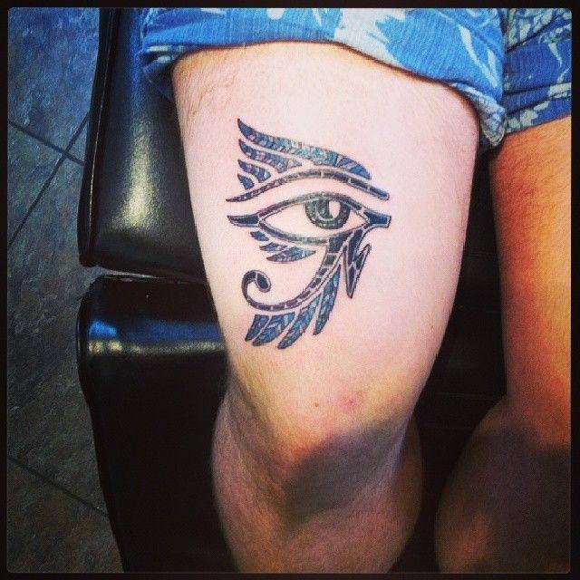Egyptian Third Eye Tattoo Egyptian Eye Tattoo on Thigh