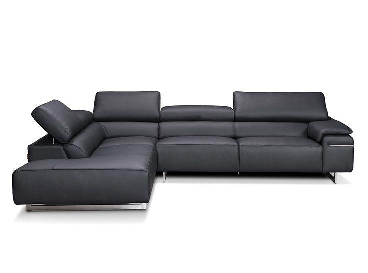 Leather Sectional Sofa Novello by Seduta D'Arte Italy - $3,425.00
