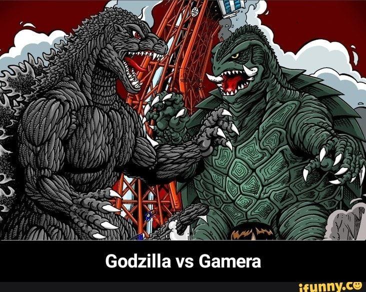 Godzilla Vs Gamera Fan Art