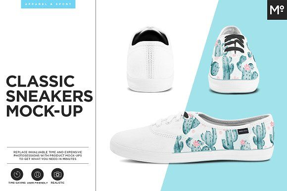 Classic Sneakers Mock-up by Mocca2Go/mesmeriseme on @creativemarket