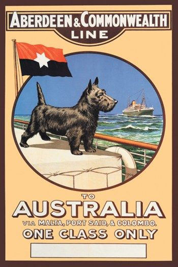 Aberdeen and Commonwealth Cruise Line to Australia Fine-Art Print    posterpal.com