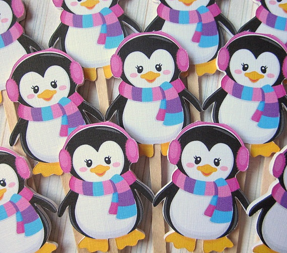 NEW Chilly Penguin GIRL Winter ONEderland Cupcake by ciaobambino, $10.00