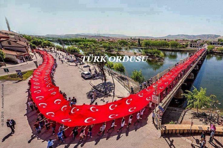 Bayrak yürüyüşünden Kırıkkale