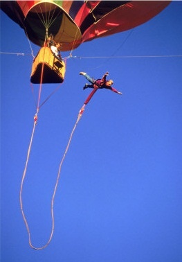 bungy jump from a hot air balloon