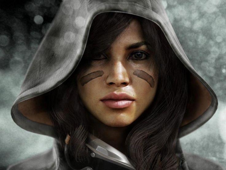 Mulher com pintura de guerra