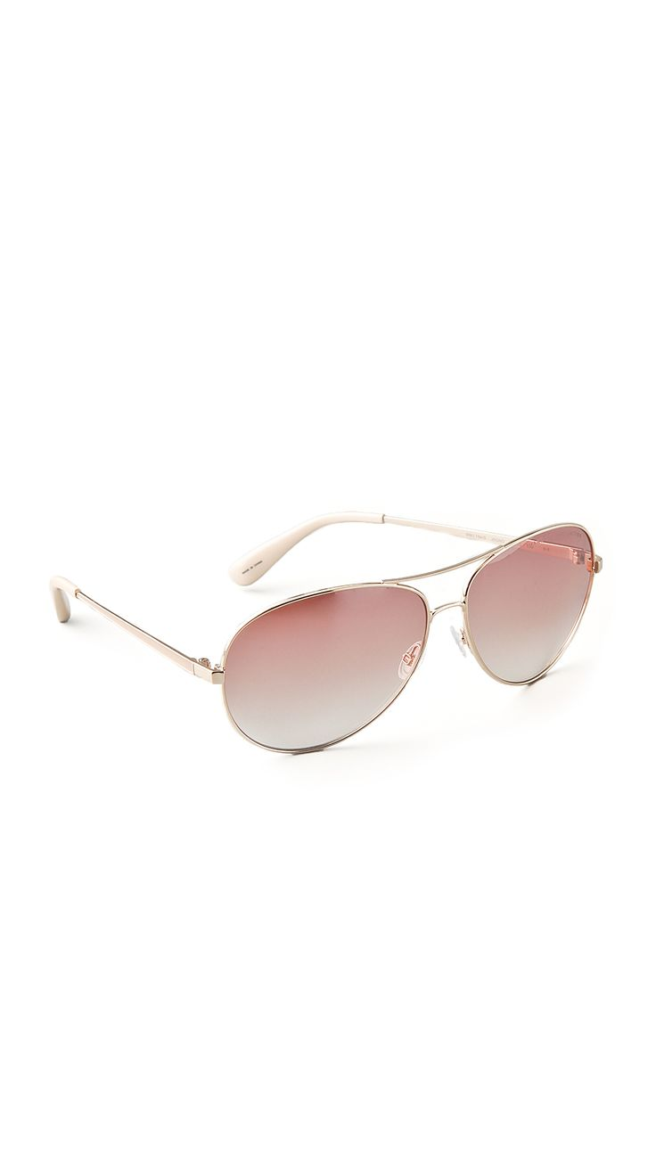 MARC BY MARC JACOBS Aviator Sunglasses (Gold).