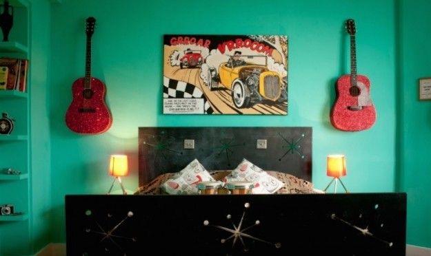 Camera da letto rockabilly - Camera da letto rockabilly per gli appassionati del genere