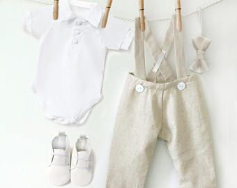 Boys Linen Suit, Baby Linen Clothes, Baby Boy Linen Outfit, Toddler Linen Pants, Baby Boy Outfit, Ringbearer Outfit, Baby Wedding outfit