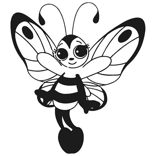 Bee Die Cut Vinyl Decal PV516