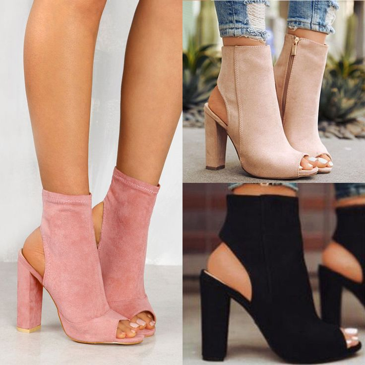 Womens Ladies Platform High Block Heel Sandals Open Toe Ankle Boots Shoes Size #Unbranded #AnkleBoots #Casual