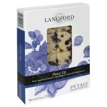 Langford shortbread with pansies, johnny jump-ups, and blueberries. A little taste of heaven!