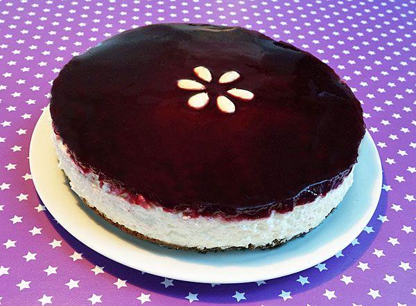 Ris á Lámande Cheesecake en julefrokost dessert eller tvist på den almindelige