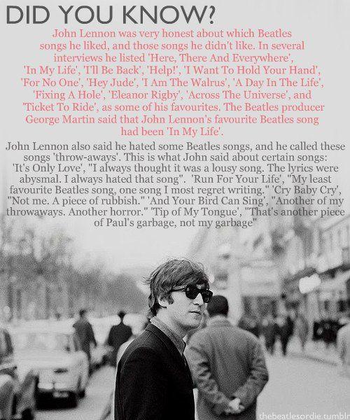 John Lennon song facts