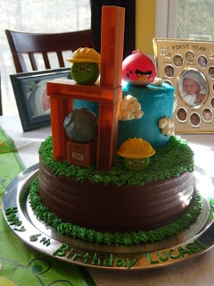 Easy Angry Bird Birthday Cake!