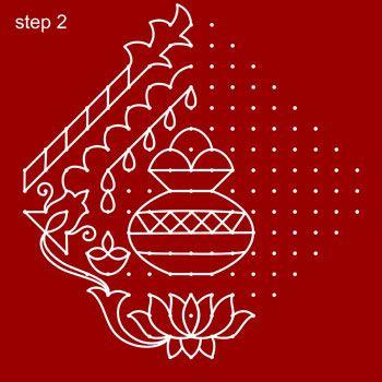 Sankranti Rangoli Step 2