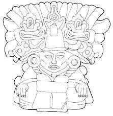 Ceremonia Azteca De La Flor Dibujo Para Colorear Museo Nacional De