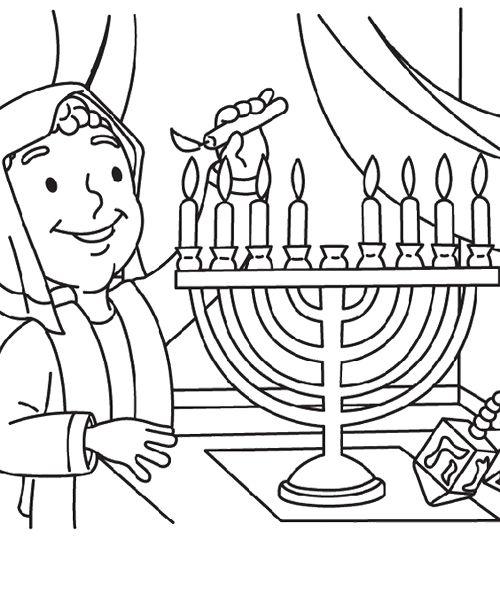 Mother Happy Hanukkah Coloring Page Teaching Pinterest