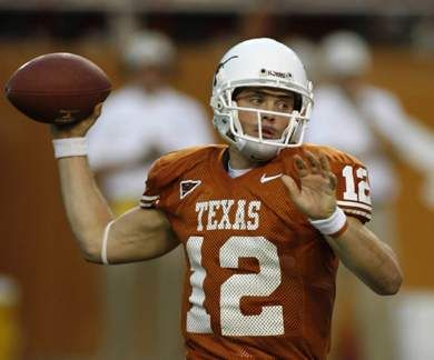 Colt McCoy- I would marry this godly man in a hearbeat