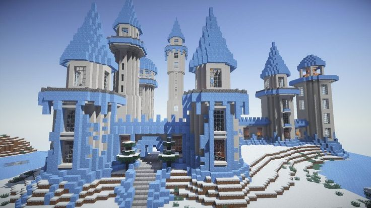 An Icy Fortress Minecraft Minecraft Minecraft Ice
