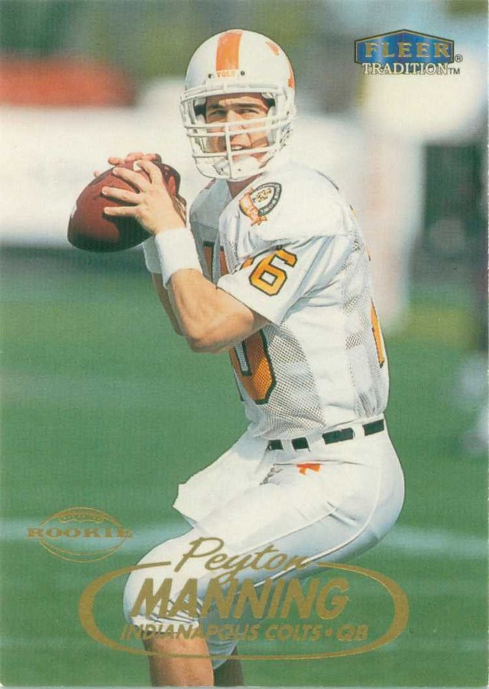 1998 Fleer Peyton Manning Rookie Card.  Card #235.