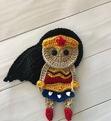 Ravelry: Wonder Woman Applique pattern by Jen Mitchell - Nella's Cottage