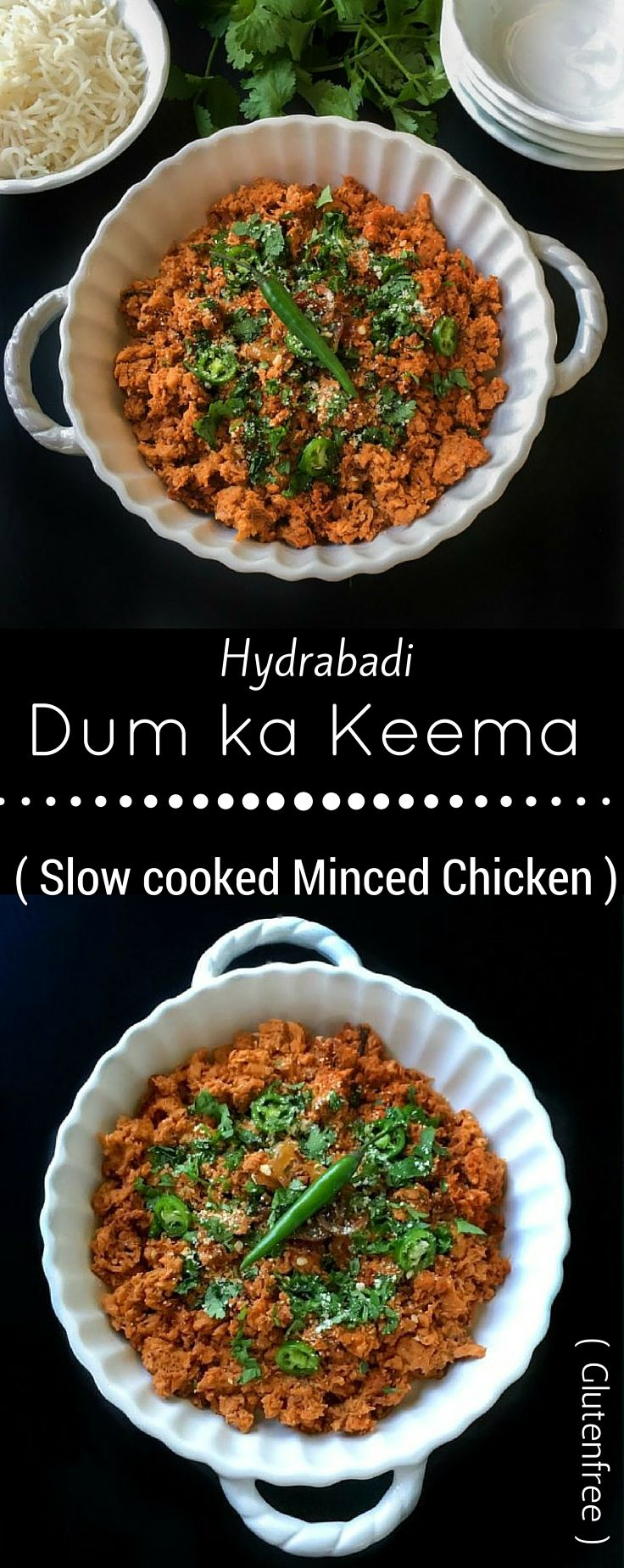 Chicken Keema. Maybe add some frozen peas to this dish as well.