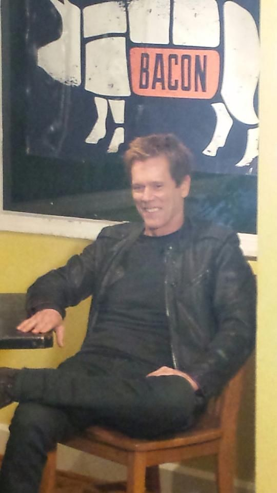 Kevin Bacon, at a restaurant that specializes in Bacon. (Austin, TX SXSW)