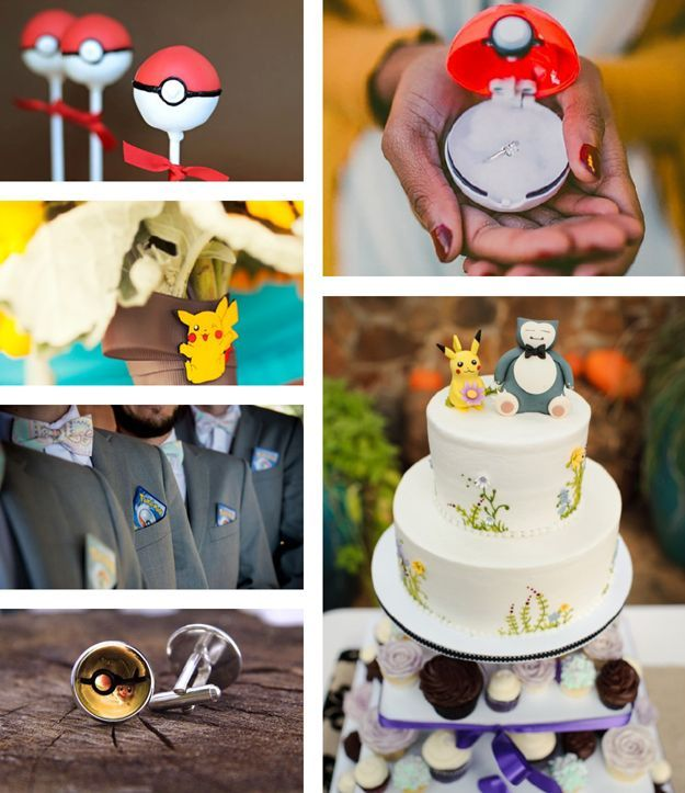 Pokemon-go wedding // Geek wedding // Nerd Wedding // Mariage inspiration pokemon – – #geek