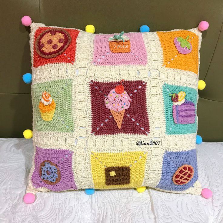 Colorful food cushion