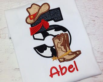 Cowboy Birthday Shirt, Rodeo, Cowboy, Western Birthday, Western themed shirt, Cowboy Birthday party, Rodeo birthday party, Cowboy number top