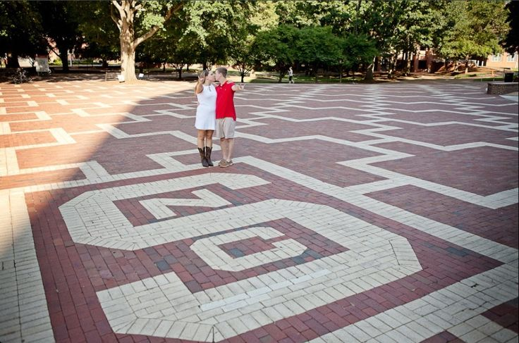 NC State University brickyard engagement pictures!