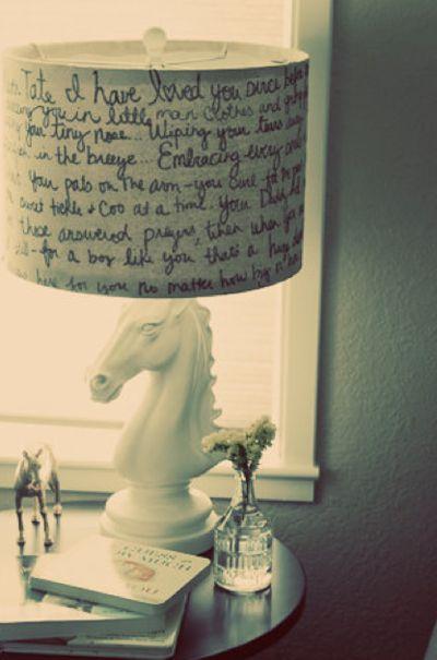 sharpie+lampshade=super cool lampshade