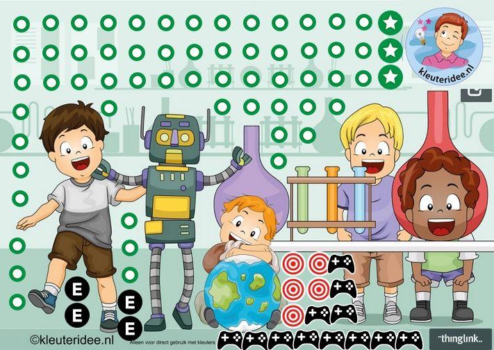 """Tadaa...interactieve praatplaat voor kleuters KBW 2015 """"Raar, maar waar!', vol video's, spellen en interactieve lessen, by juf Petra v Ginkel van kleuteridee."""