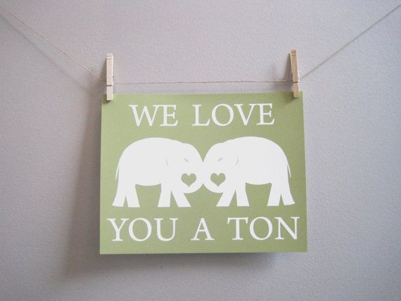 Kids Wall Art  Nursery Art Elephant
