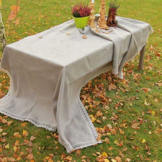 Check out this item in my Etsy shop https://www.etsy.com/listing/253175610/extra-large-linen-tablecloth-grey
