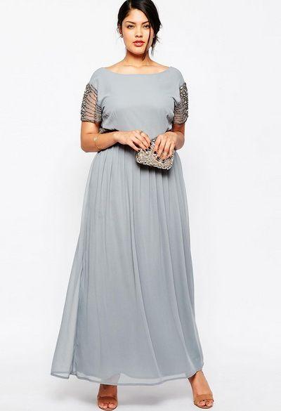 Длинные платья больших размеров: ОБЗОР интернет-магазинов, 30 фото