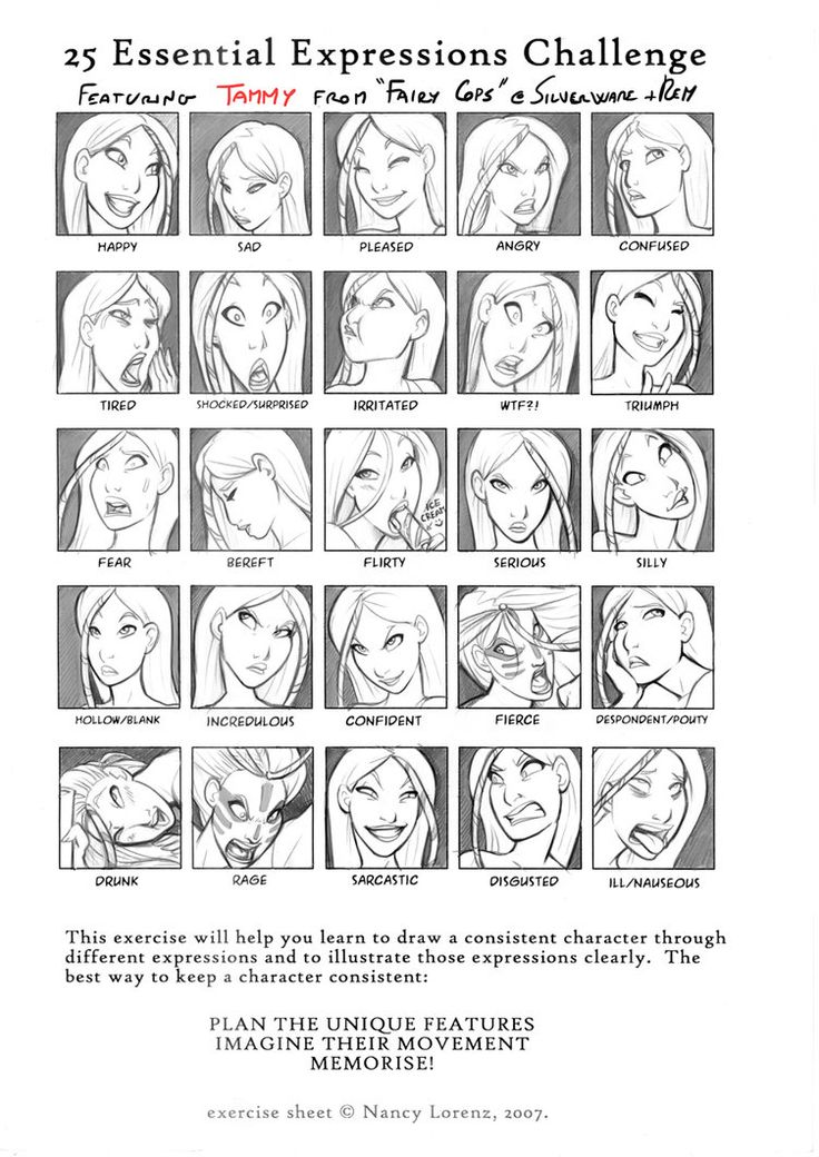 25 Expressions Challenge Tammy by ~ritam on deviantART