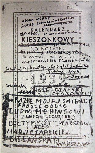 Notatnik Józefa Czapskiego ze Starobielska.