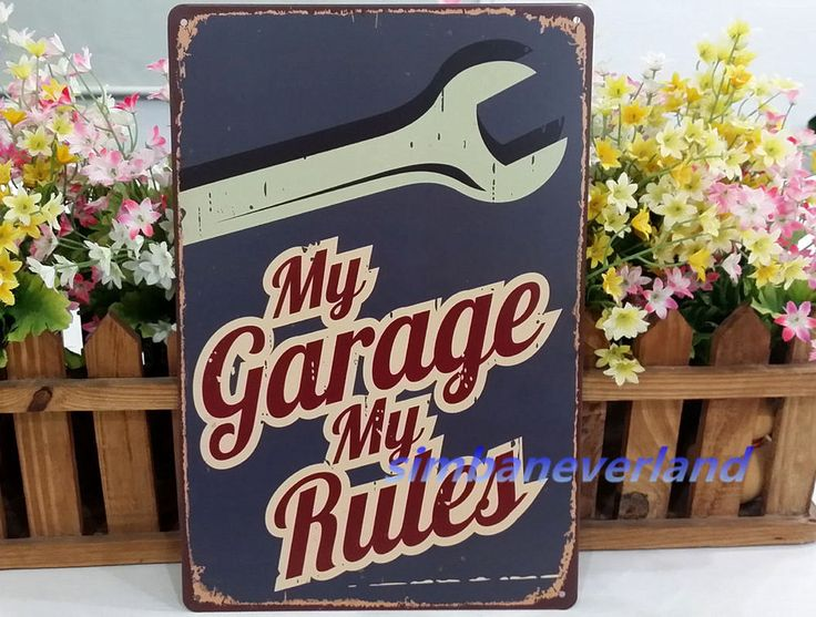 My garage My rules Vintage metal Tin sign Poster Home Bar Pub wall decor TPR061