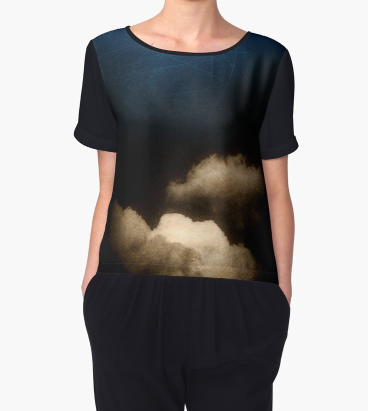 Clouds in a scratched darkness by Silvia Ganora - 25% off #apparel #tshirt #sky #clouds #blue #dark #discount #redbubble Use SWEETSTUFF !!!