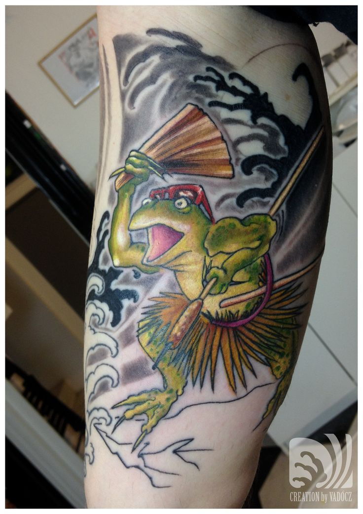 japanese style tattoo - frog tattoo by Balázs Vadócz at Creation by Vadócz Tattooshop