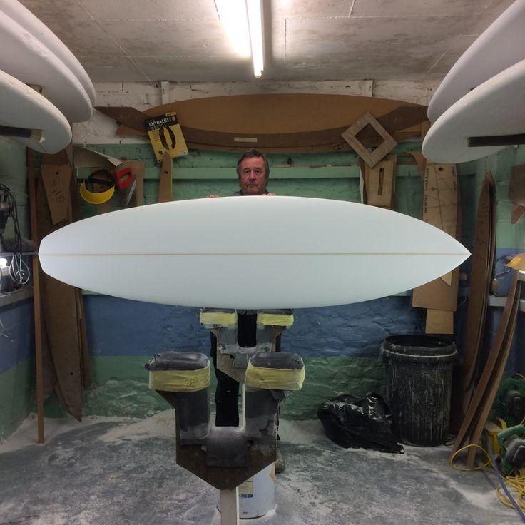 """6'7"""" single fin surfboard, shaped by Paul Blacker"""