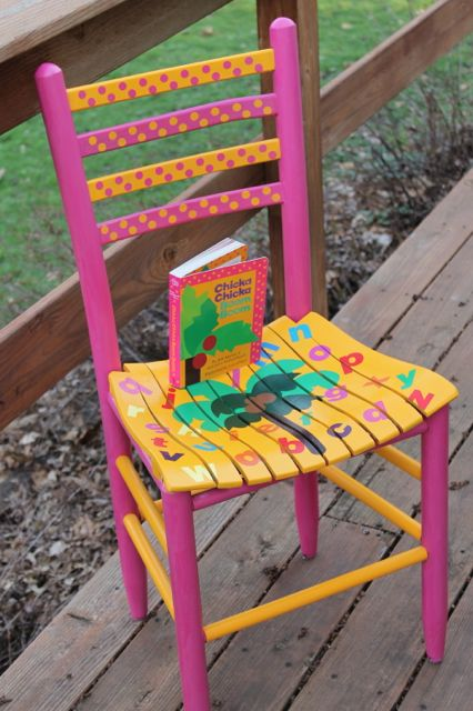 Chicka Chicka Boom Boom Teacher Chair Author Chair :)