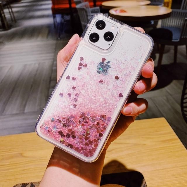 Iphone 11 Pro Max Liquid Glitter Case Bling Sparkle Cover Pink In 2020 Pretty Iphone Cases Pink Phone Cases Girly Phone Cases
