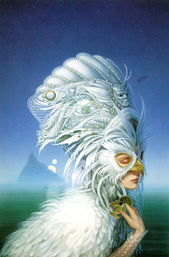 MICHAEL WHELAN - art for The Snow Queen by Joan D. Vinge, Volume 1 of the Snow Queen tetralogy.