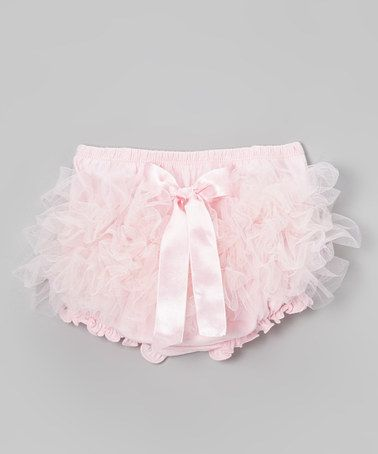 Light Pink Ruffle Bow Diaper Cover - Infant & Toddler by Bubby & Belle on #zulily