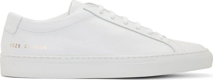 Common Projects Achilles Low White - best sneaker out there.